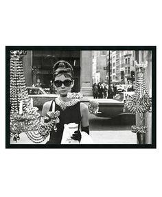 'Audrey Hepburn Breakfast at Tiffany's' Framed Art