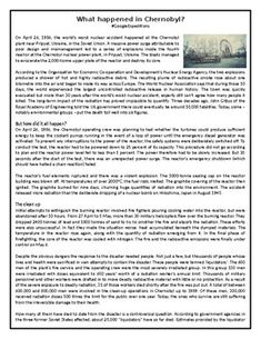 This Reading Comprehension worksheet is suitable for higher elementary to proficient ESL learners. The text discusses teenage depression and its possible cause Comprehension Exercises, Reading Comprehension Worksheets, Earth Day History, Shakespeare's Life, Persuasive Text, English Course, Vocabulary Building, English Reading, Chernobyl