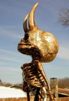 Odd Fetal Devils Minion Skeleton Oddity Horror Prop Fetus Skull Sideshow Gaff