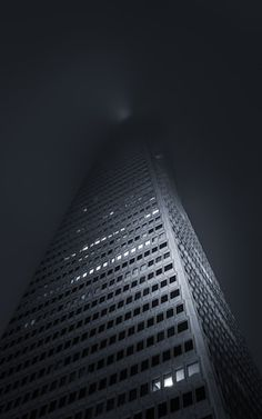 Hiding Within The Fog  This was a few weeks back, when Joe Ercoli and I, wander around the Transamerica Pyramid and a few other mysterious places, attempting to shoot some night time fog. And as always, upsetting the Tripod Police!  Canon 5D MK III Canon 17-40mm f/4 L Induro CT214 Carbon Tripod ISO 100 f/22 176 Seconds Architecture Gallery: http://smu.gs/P0xiL8