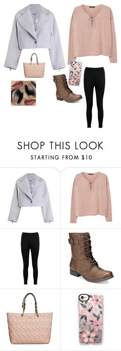 """""""Sydney in winter"""" by savvaeagle14 ❤ liked on Polyvore featuring Zimmermann, MANGO, Boohoo, American Rag Cie, Karl Lagerfeld and Casetify"""