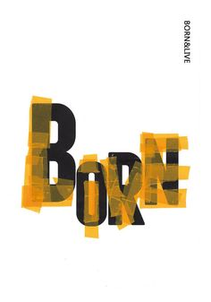 Born & Live by Chen Chou. China 2014. Selected finalist, 6th World Biennial of Student Poster.