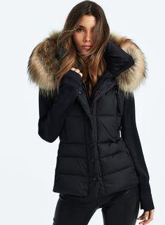Winter Jackets Women, Fur Trim, Fashion Forward, Vest, Nyc, Woman, Collection, Black, Party Wear