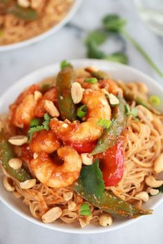 Sweet Thai Shrimp Curry with Peanut Noodles | https://www.halfbakedharvest.com/