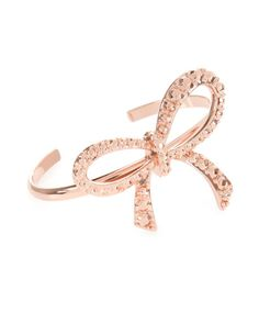 Ted Baker - Aug 2014 - Large bow cuff - Rose Gold   Jewellery   Ted Baker UK http://www.tedbaker.com/uk/Womens/Accessories/Jewellery/HALLY-Large-bow-cuff-Rose-Gold/p/114465-57-ROSEGOLD-COL