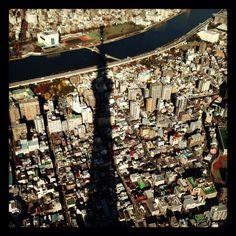 Tokyo sky tree  shadow