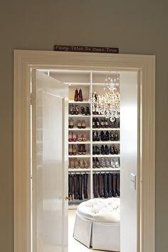 huge walk in closet