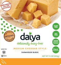 This is for everyone who wants to have cheese without the dairy or soy. Daiya brand is made from coconut milk and is soy/dairy/gluten/gmo free. You can pronounce everything in it!!! I made my daughter a pizza last night using their mozzarella and it was delicious!!! You can get it from Earthfare or Whole Foods