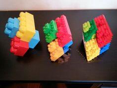 Fractal irregular octahedron made with legos.