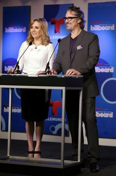 Ana Maria Canseco Ana Maria Canseco and Miguel Varoni attend 2014 Billboard Latin Music Awards Press Conference to announce finalists at Gib...