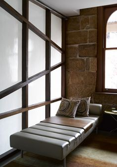 Japanese Screen, Outdoor Furniture, Outdoor Decor, Floor Chair, Sofa, Create, Bed, Building, Wall