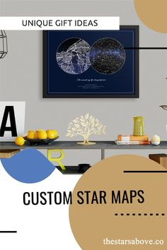 These are the perfect gifts to commemorate the most special occasions in your life. The birth of a child, a wedding or anniversary, or that first date that changed everything. #stars #night #sky Sky Images, Night Skies, Personalized Gifts, Unique Gifts, Map, Stars, Customized Gifts, Location Map, Sterne