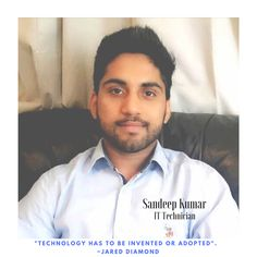 Our team is rapidly growing! This week, we welcome our new IT Technician Sandeep! Welcome to the team JPC Sandeep!!!