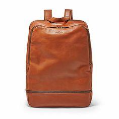 Skagen's leather saddle backpack