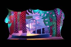David Hockney stage design - would need to house a 16' x 9' projection screen