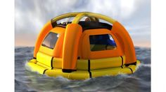 The Sea Kettle concept life raft not only aims to provide shelter from the elements but also drinking water from the sea