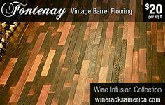 Wine Barrel Flooring for Scandal Table