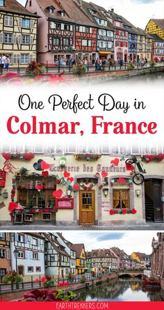 One perfect day in Colmar France with the best restaurants and hotels and recommendations for day trips on the Alsace Wine Route. babies flight hotel restaurant destinations ideas tips Backpacking Europe, Europe Travel Tips, European Travel, Travel Guides, Places To Travel, Travel Destinations, European Vacation, Vacation Places, Travel Hacks