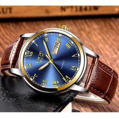 Men Sport Quartz Watch Roman Numeral Fashion Analog Luminous Casual Wristwatch  #LIGE #Sport