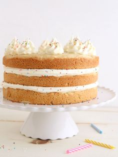 Sugar Cookie Layer Cake | completelydelicious.com