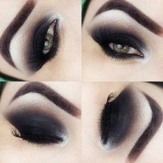 Black Eye Makeup, Sexy Makeup, Dark Makeup, Smokey Eye Makeup, Makeup Looks, Lip Makeup Tutorial, Eye Tutorial, Makeup Forever, Dark Beauty