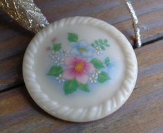 VINTAGE Porcelain Ceramic AVON Floral Flowers Brooch Pin Designer Signed Jewelry #Avon #FloralFlowersVINTAGEDesignerJewelry