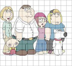 Family Guy Cross Stitch Pattern by SynergyStitches on Etsy, £4.95