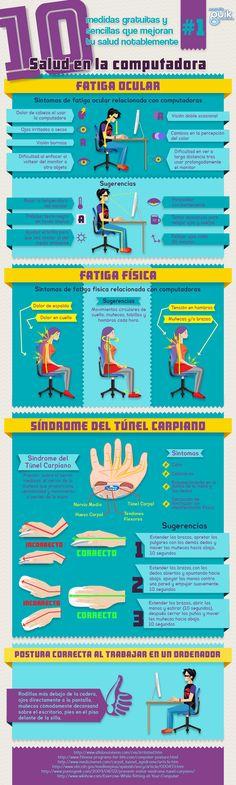 Cuida tu salud al ordenador #infografia #infographic #health