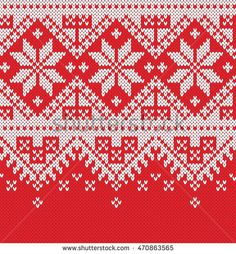 Winter Sweater Design. Fairisle Seamless Knitting Pattern