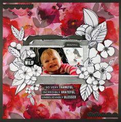 Pretty in Pink…. Scrapbook Templates, Scrapbook Sketches, Scrapbook Page Layouts, Scrapbook Paper Crafts, Scrapbook Pages, Scrapbooking Ideas, Baby Girl Scrapbook, Wedding Scrapbook, Proud Mom Quotes