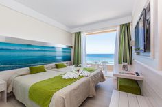 beachfront room in Can Picafort