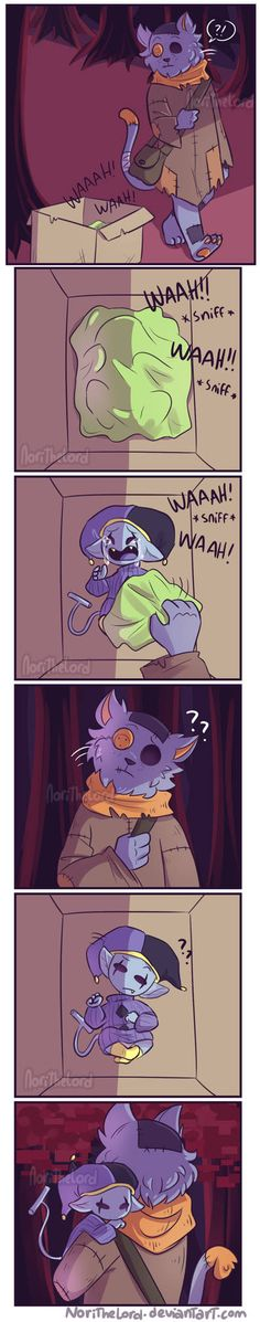 Baby Jevil and Seam (comic) by NoriTheLord Undertale Memes, Undertale Cute, Undertale Fanart, Undertale Comic, Toby Fox, Cartoon Games, Indie Games, Bad Timing, Anime Comics