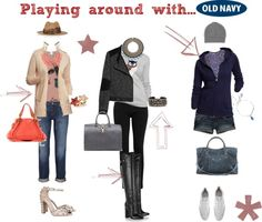 """""""Style That Sweater with Old Navy"""" by cate-tris on Polyvore"""