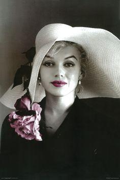 Marilyn Monroe Hat Poster