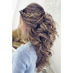 30 Chic And Easy Wedding Guest Hairstyles ❤ liked on Polyvore featuring home and home decor