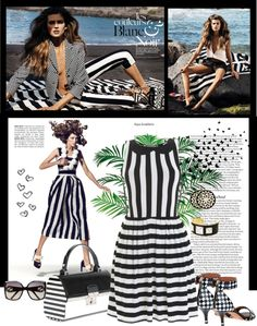 """Black & White Spring 2013"" by sherry7411 ❤ liked on Polyvore"
