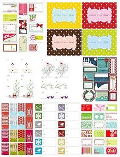 Website with a collection with lots of free christmas printables