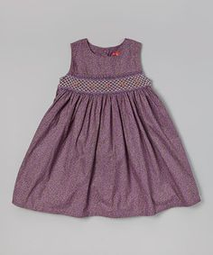 Another great find on #zulily! Hi-D Purple Floral Smocked Dress - Toddler & Girls by Hi-D #zulilyfinds