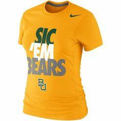 Nike #Baylor Bears Ladies #SicEm Bears t-shirt (gold)