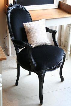 Black Louis Chair