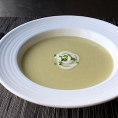 Potato Leek Soup (Vichyssoise) - Chef John Allrecipes.com  Leave out heavy cream or use 1/2cup soaked cashews+1/2 water instead
