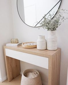 Hallway Decor 🙌 Image shared by featuring our Jesse Console Table Ikea Hallway, Hallway Table Decor, Hallway Decorating, Entryway Decor, Entryway Tables, Hallway Bench, Entrance Foyer, Living Furniture, Bedroom Decor