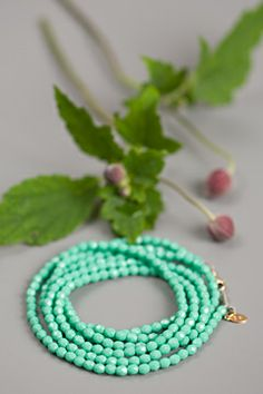extra long bead necklace