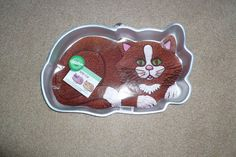 Wilton Cake Pan Kitty Cat with Insert Vintage Retired