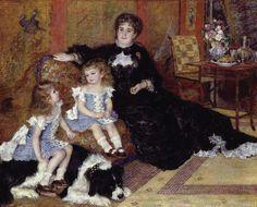 Madame Georges Charpentier and Her Children [1878] -- Pierre Auguste Renoir -