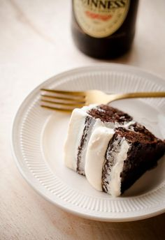 Guinness Stout Cake with Bailey's Cream Cheese Frosting via Blogging Over Thyme