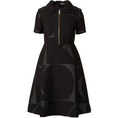 Giant Cut Out Jacquard Midi Dress ❤ liked on Polyvore featuring dresses, mid calf dresses, jacquard dress, cutout dress, print cocktail dress and calf length dresses