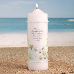 Coastal Mist Wedding Unity Candle... Wedding Ideas: Some Beach, Somewhere