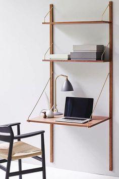 Home Office Wandregal Laptoptisch