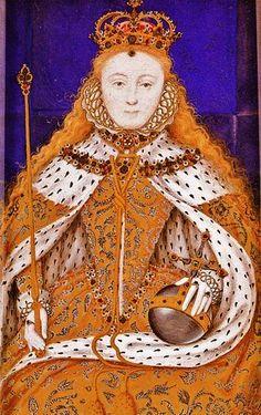 1560 Queen Elizabeth I 1533-1603 Coronation Miniature